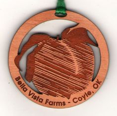 Engraved wood ornament. #engraved #woodornament #customornament