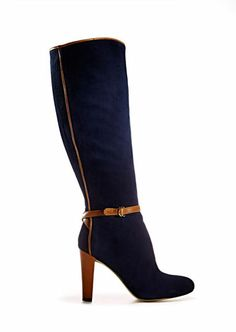 buckled suede boots