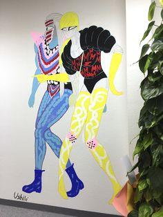 青山のオフィスにて壁画制作 | USHIKI MASANORI 牛木匡憲