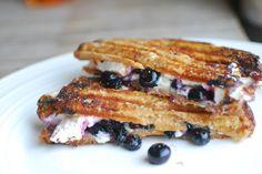 Blueberry, White Chocolate and Marshmallow Dessert Panini.