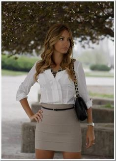 This is a little too sexy for work - but the top and the accessories are nice!