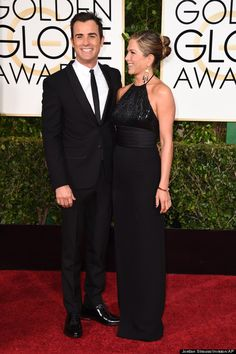 Jennifer Aniston and Justin Theroux looking fantastic in black
