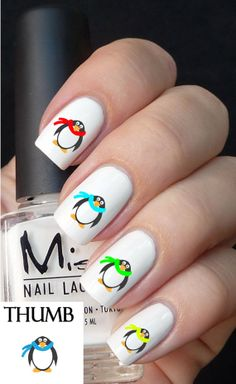 thanksgiving nail decal by DesignerNails on Etsy