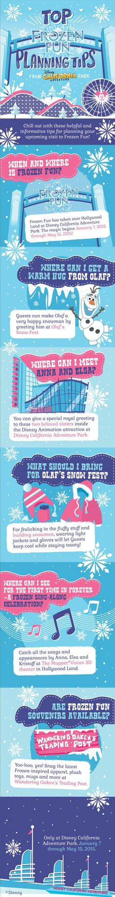 Chill out with these helpful and informative tips for planning your upcoming visit to Frozen Fun at Disney California Adventure Park!