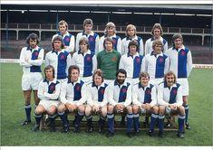 Blackburn Rovers team group in 1973-74.