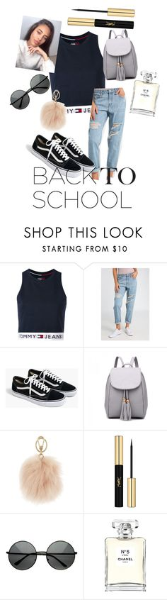 """""""Back to school shopping"""" by someone2100 ❤ liked on Polyvore featuring Tommy Hilfiger, Ally Fashion, J.Crew, Furla, Yves Saint Laurent and Chanel"""