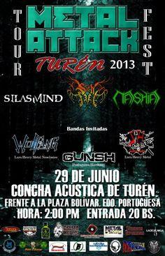 "Cresta Metálica Producciones » METAL ATTACK PRESENTA: "" TOUR FEST: TUREN 2013"" (PORTUGUESA) // 29-06-2013"
