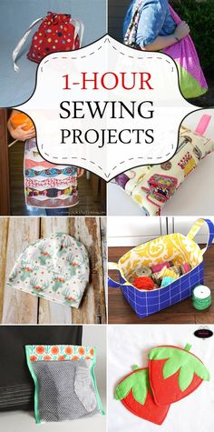 1-Hour Sewing Projects - great for when I'm feeling creative but don't have much time