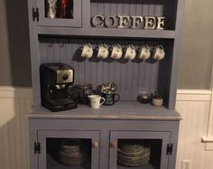 Nuiances Of Small Kitchen Ideas Apartment Organizing Coffee Stations 16 Coffee Bars In Kitchen, Coffee Bar Home, Home Coffee Stations, Coffe Bar, Buffet, Small Apartment Kitchen, Kitchen Small, Coffee Nook, Farmhouse Style Kitchen