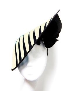 Martha Lynn #Millinery i love the black and ivory contrasts and over all feel of this hat. #judithm #hats