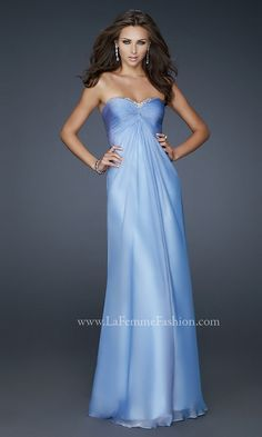 Periwinkle--my favourite colour. This would be flattering, but where would I wear it?