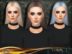 New Hair mesh ll 27 colors + 9 Ombres ll no morph ll smooth bones assignment ll support with hats ll All LODs ll with Ambient Occlusion/Shadow Map  Found in TSR Category 'Sims 4 Female Hairstyles'
