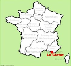 Normandy location on the France map Maps Pinterest France map