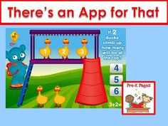 Apps for your preschool, pre-k, or kindergarten classroom.