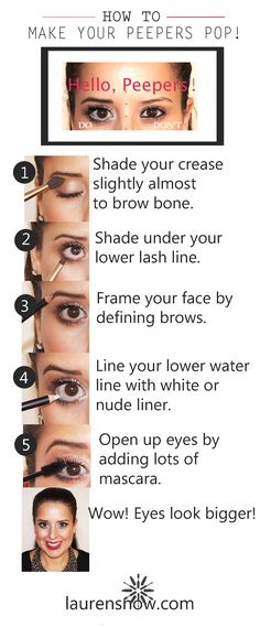 How to make your eyes look bigger. How to use white eyeliner. How to use nude eyeliner. Make Eyes Pop. Makeup Tutorials. Makeup Tricks. Makeup Tips. Beauty. Makeup. Lauren Snow. Lauren Snow Blog.