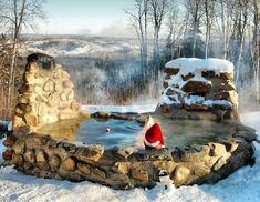 Wood Fire Stone Hot Tub - The 30 Coolest Hot Tubs | Complex