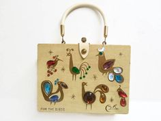 Enid Collins Jeweled Box Purse For the Birds Enid Collins