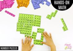 Number Puzzle Pieces up to This fun Grade Math activity helps students count numbers up to 120 in a hands-on way! Math 2, 1st Grade Math, Kindergarten Math, Fun Math, Teaching Math, First Grade, Math Activities, Number Puzzles, Math Numbers