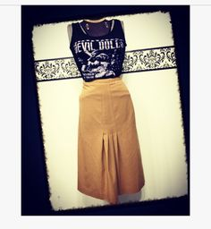 A personal favorite from my Etsy shop https://www.etsy.com/listing/496758510/1980s-tan-pencil-skirt-by-harve-benard
