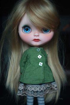 SAFFRON - Custom Blythe doll up for adoption now #doll #customblythe #faceup…