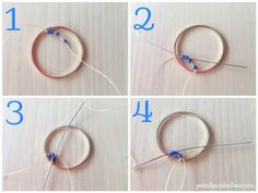 Learn how to make pretty ombre circles earrings with miyuki beads using the circular brick stitch technique in this step by step tutorial. Brick Stitch Earrings, Seed Bead Earrings, Circle Earrings, Beaded Earrings, Beaded Jewelry, Beading Tools, Beading Tutorials, Beading Patterns, Earring Tutorial