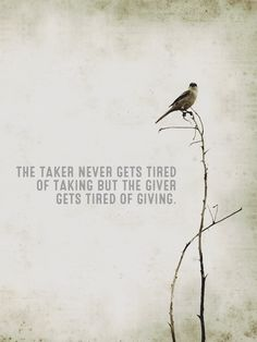 Takers and givers