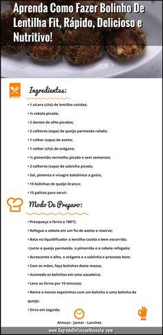 Aprenda Como Fazer Bolinho De Lentilha Fit, Rápido, Delicioso e Nutritivo!