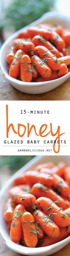 Honey Glazed Baby Carrots - Honey brings in such a pleasant sweetness to these baby carrots in this easy side dish! Honey Glazed Baby Carrots - Honey brings in such a pleasant sweetness to these baby carrots in this easy side dish! Healthy Recipes, Side Dish Recipes, Vegetable Recipes, Vegetarian Recipes, Cooking Recipes, Dinner Recipes, Honey Recipes, Food Dishes, Side Dishes