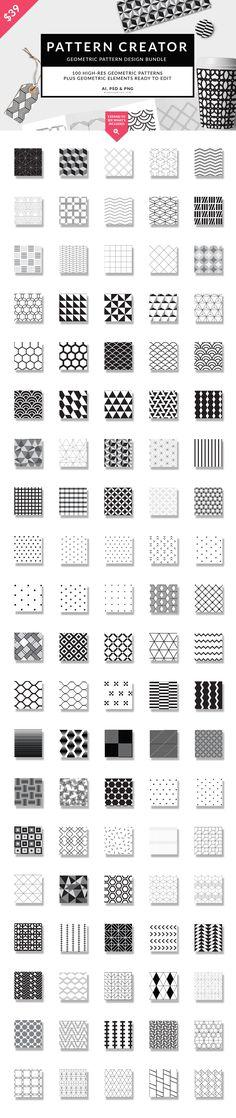 Geometric Mega Bundle // GMTRK by Pixel Supplies on @creativemarket