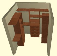 Walk-in closet design. Closetmaid.