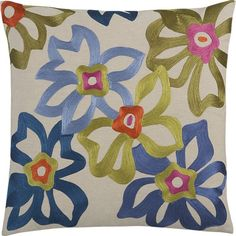 "Spanish Flower 20"" Pillow ($49.95)"