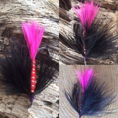 Nate's Fatty Flies: Nate's Black and Red Steelhead Fly & I also make Foam Bass Poppers, Fishing Flies, Floating Bass Flies by Natesfattyflies on Etsy