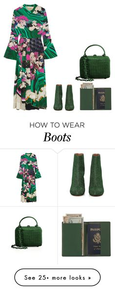 """Untitled #3921"" by michelanna on Polyvore featuring Mary Katrantzou, Maison Margiela, Royce Leather and Nancy Gonzalez"