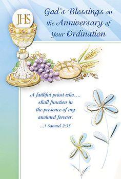 25th Ordination Anniversary Gift Cross Host Snow Globe ...