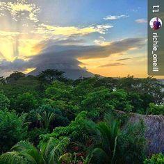 From @richie_oneill: #Omepete #Nicaragua #sunset #ILoveGranada #AmoGranada #Travel