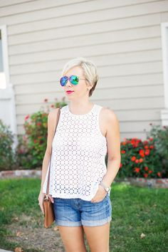white eyelet top -Kacee from Life with Lipstick On