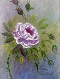 Soft Rose, Floral Study.  Acrylic Painting. Hand painted. Art, Watercolour. by ArtByTherese on Etsy