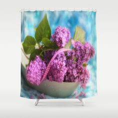 Syringa vulgaris #lilac still life Shower Curtain
