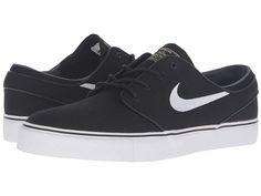 a5897129446 Nike SB Zoom Stefan Janoski Canvas Men s Skate Shoes Black Gum Light  Brown Metallic Gold Star White
