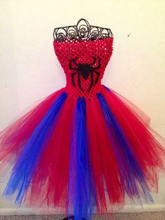 Girls 024 month Spider Man tutu dress by LisasTutus on Etsy, $20.00