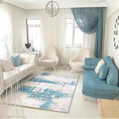 Home design: 12 Amazing Master Bedroom Design Ideas Suitable to this Summer Living Room Turquoise, Colourful Living Room, Rugs In Living Room, Living Room Designs, Living Room Decor, Decor Room, Rideaux Design, Sofa Design, Interior Design