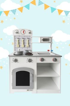 Yummy! Something smells good in the kitchen. The Piccolo Play Kitchen lets little cooks play pretend and bring imaginative creations to life. Bake in the oven, boil and grill on the hotplate, and heat up in the microwave. Play chef right away with pots, pans, and utensils. Locations: AUSTRALIA