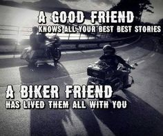 A biker friend Motorcycle Patches, Motorcycle Posters, Motorcycle Quotes, Harley Davidson Forum, Harley Davidson Motorcycles, Tron Bike, Bike Humor, Biker Love, Riding Quotes