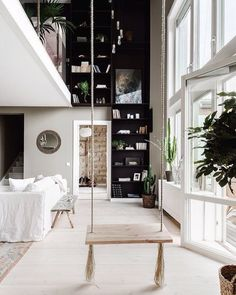 "7,848 Likes, 40 Comments - A Designer's Mind (@adesignersmind) on Instagram: ""Just swing it! Love the black/white contrast!! Project by: Unknown  #homedesign #lifestyle #style…"""
