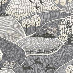 Makower UK - Into The Woods - Landscape in Grey