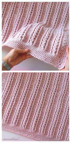 Crochet blanket patterns free 522910206737292099 - Very Easy Cable Blanket Free Crochet Pattern + Video – DIY Magazine Source by slatermomma Crochet Stitches Patterns, Crochet Afghans, Baby Blanket Crochet, Knitting Patterns, Knit Crochet, Crochet Blankets, Crochet Cable Stitch, Free Crochet Blanket Patterns Easy, Free Knitting