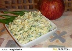 Vaječná pomazánka s medvědím česnekem recept - TopRecepty.cz Guacamole, Potato Salad, Potatoes, Cheese, Meat, Chicken, Ethnic Recipes, Food, Beef