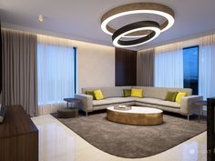 Luxury Living, Modern Living, Bratislava, Conference Room, Couch, Ceiling Lights, Living Room, Interior Design, Table