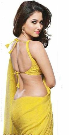 Hot Yellow Saree