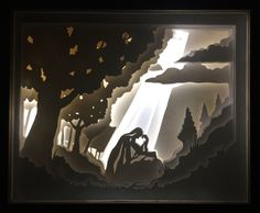 Paper Cut Light Box_Garden of Gethsemane by MWarnerTreasures on Etsy https://www.etsy.com/listing/490521792/paper-cut-light-boxgarden-of-gethsemane